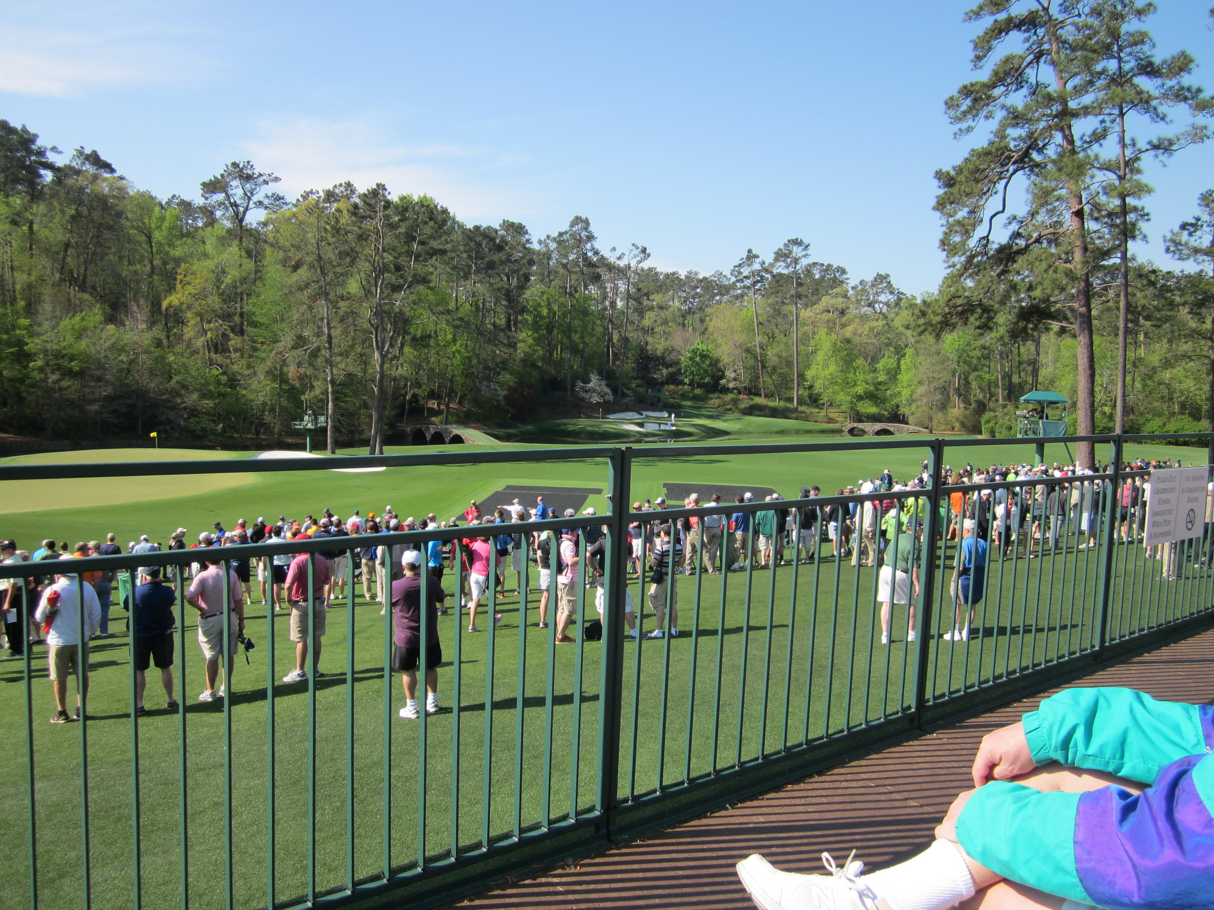 View from the stands at Amen Corner.