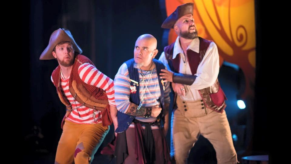 "As a pirate in ""Peter Pan"" at Berkeley Playhouse — Photo by Ben Krantz Studio"