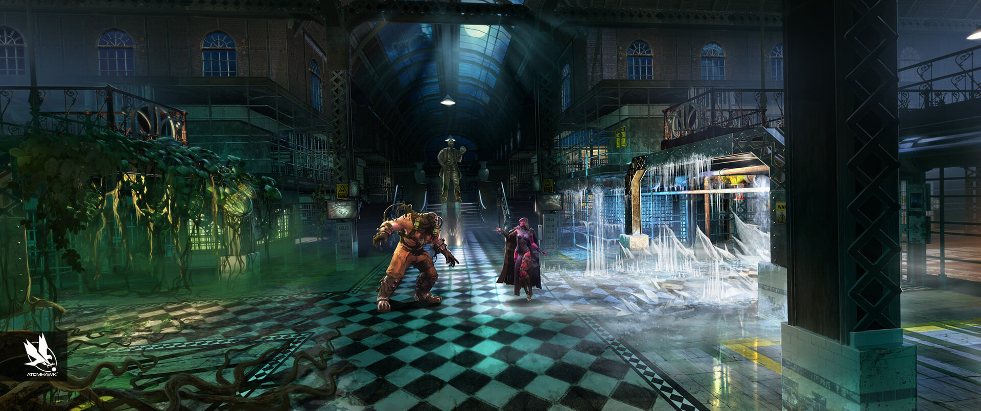 Environment Design - Injustice2 - Arkham Asylum