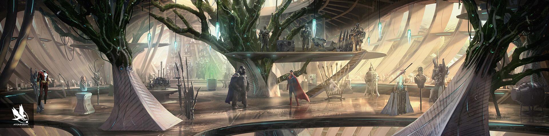Environment Design - Injustice2 - Gorilla City - Grodds Trophy Room