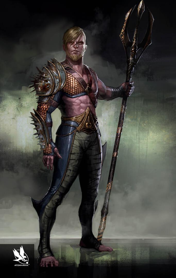 Character Art - Injustice2 - Aquaman