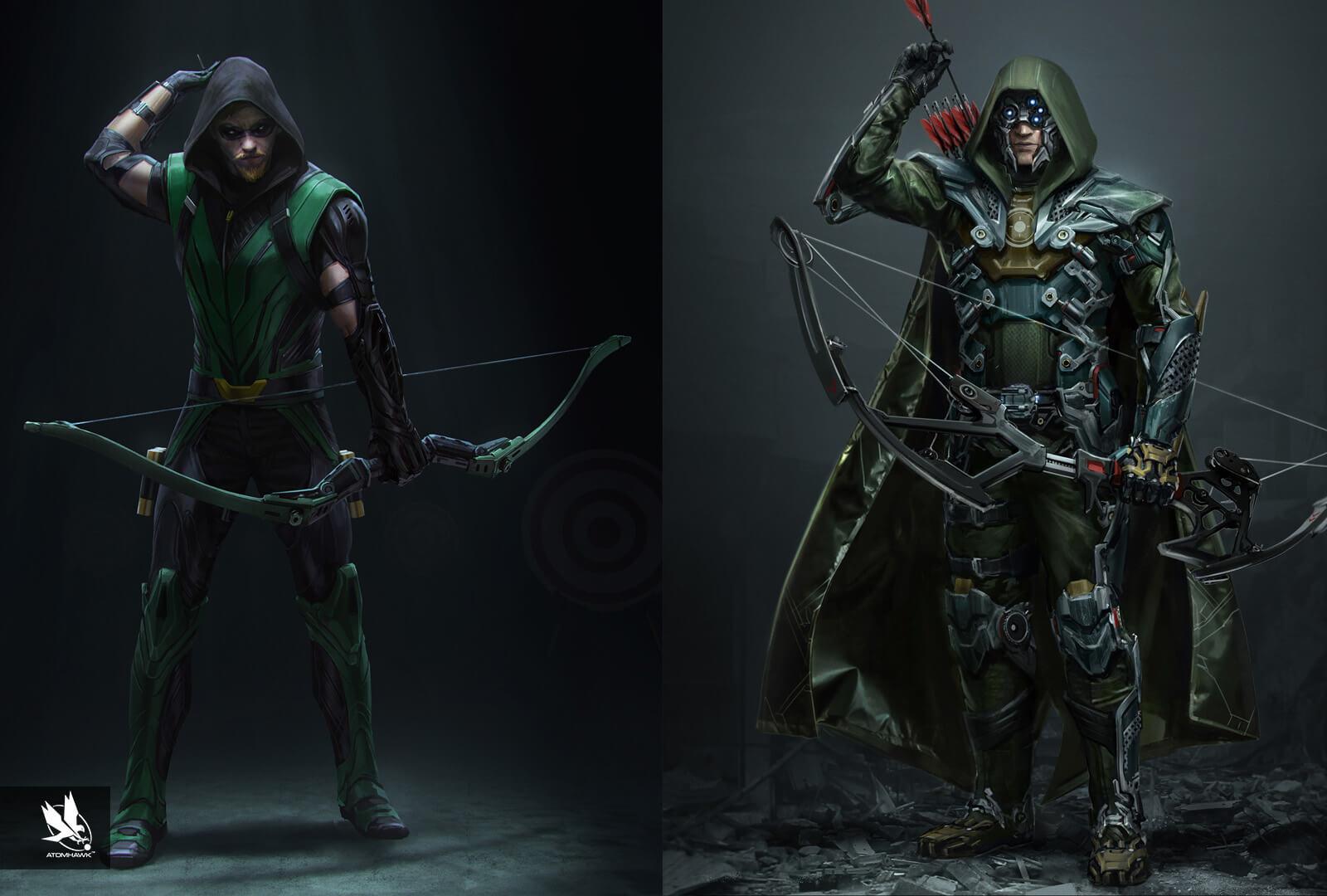 Atomhawk_Warner-Bros-NetherRealm_Injustice-2_Concept-Art_Character-Design_Green-Arrow.jpg
