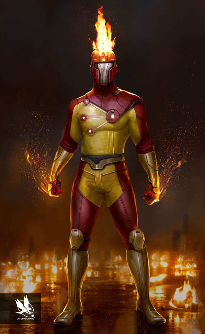 Here is some Character Art we did for Warner Brothers NetherRealm Studio on Injustice2 - Firestorm