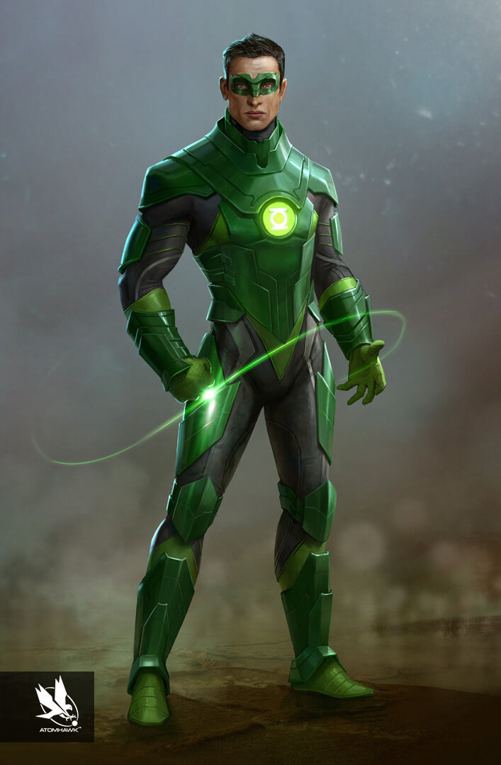 Here is some Character Art we did for Warner Brothers NetherRealm Studio on Injustice2 - Green Lantern