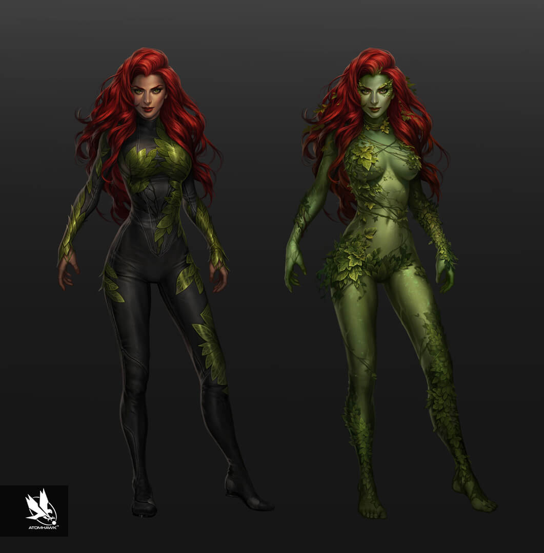 Here is some Character Art we did for Warner Brothers NetherRealm Studio on Injustice2 - Poison Ivy