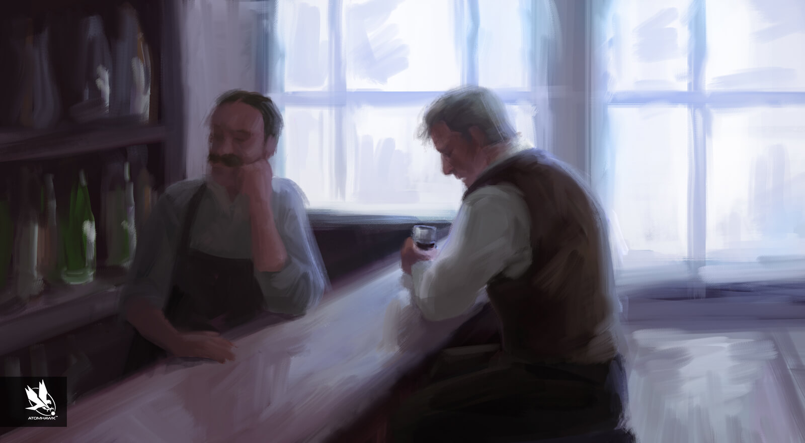 Aardman Studios - 11-11-Memories Retold Project - Concept Art - Harry the Drunk