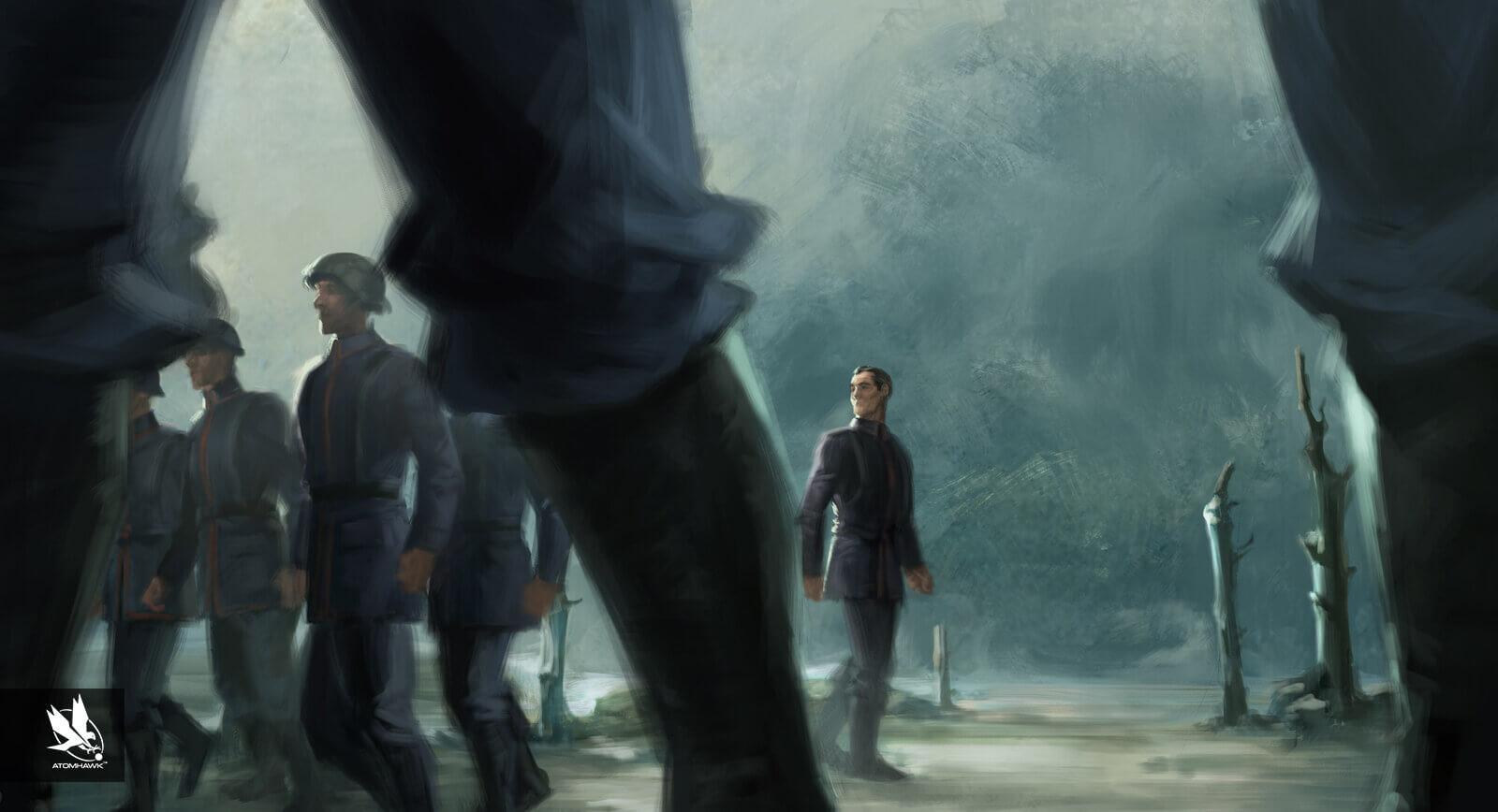 Aardman Studios - 11-11-Memories Retold - Concept Art - AWOL Soldier