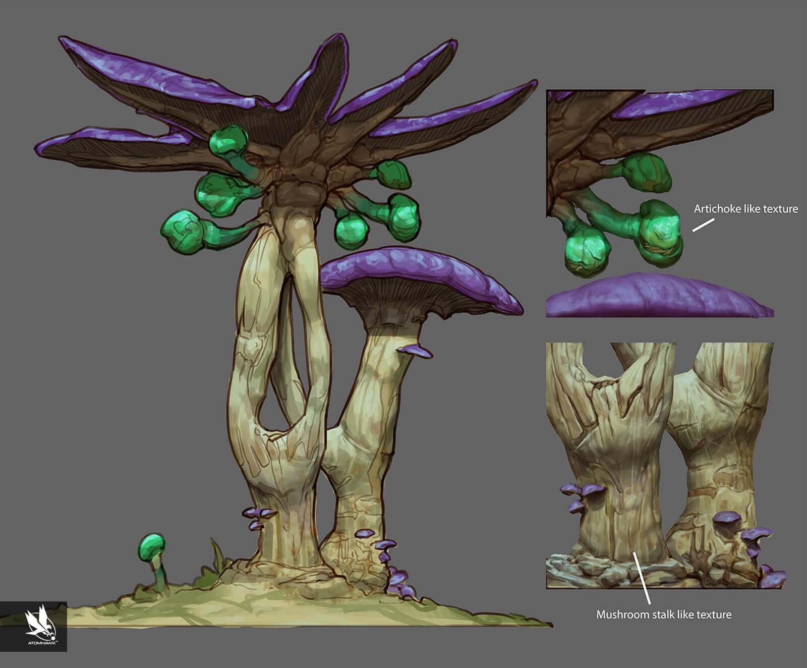 Alien Vegetation Trees Concept Art