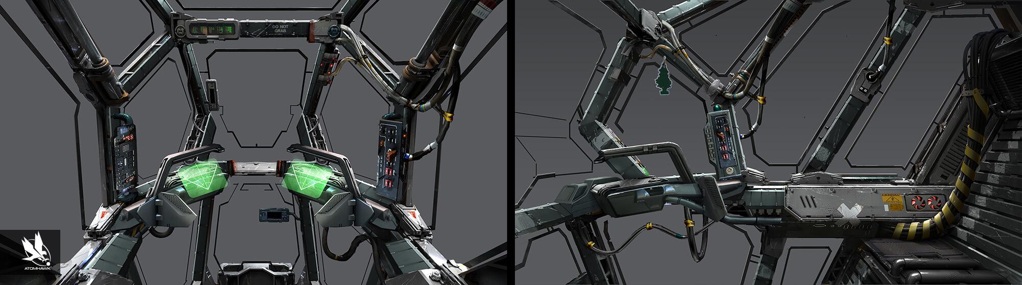 Eve Valkyrie - UI for VR - Spacecraft Design - Cockpit Support