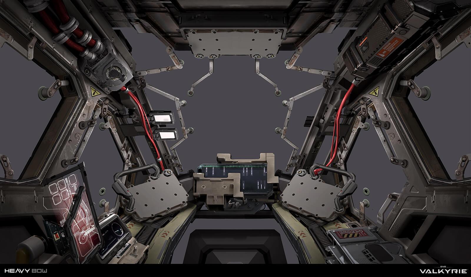 Eve: Valkyrie - UI for VR design - Cockpit