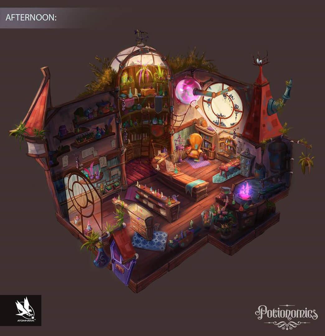 Potionomics -  Concept Art - Potion Shop (Afternoon)