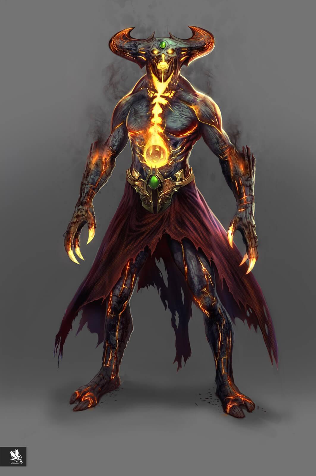 Mortal Kombat X - Character Design - Dark Shinnok