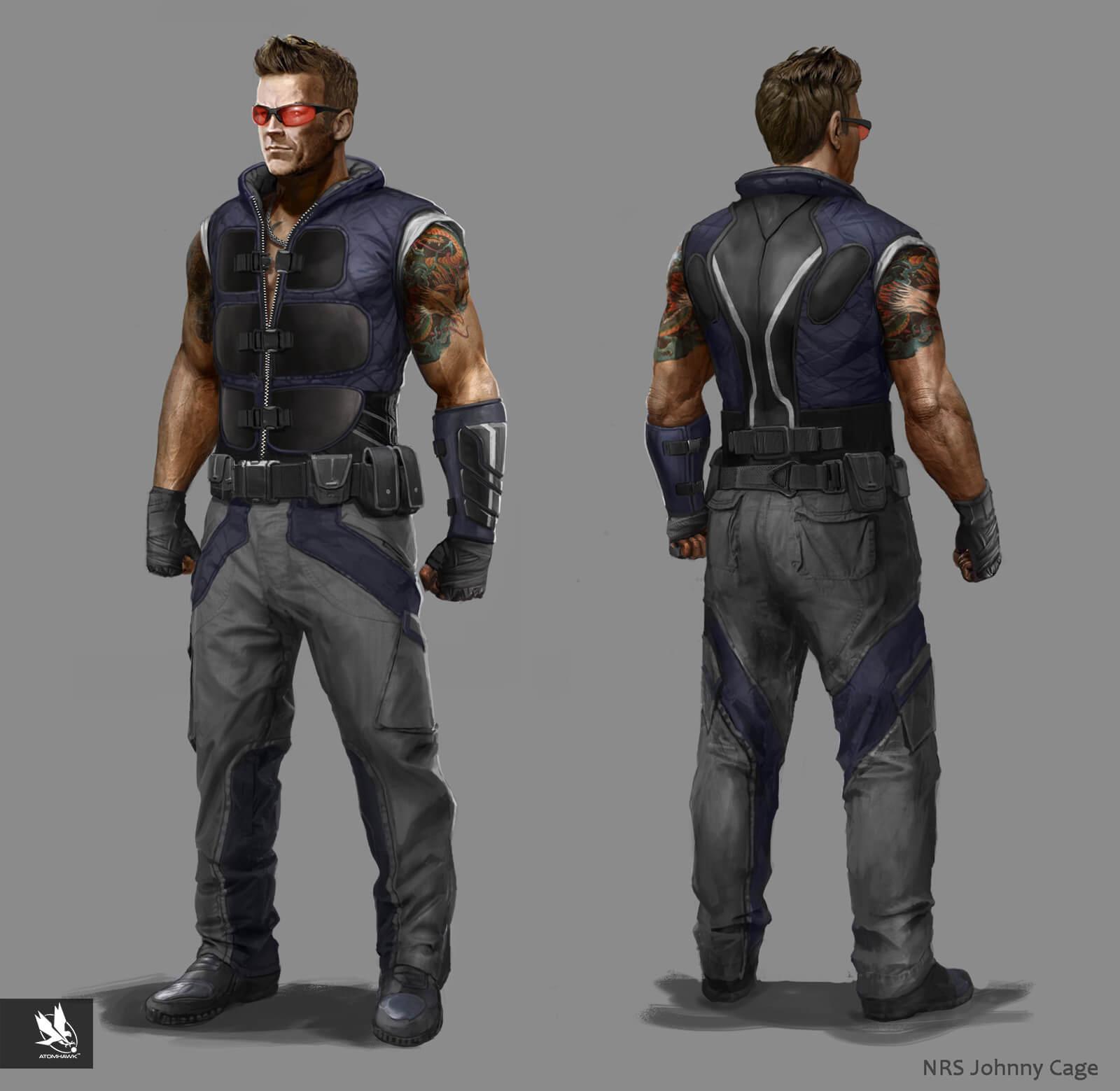 Mortal Kombat X - Character Design - Johnny Cage