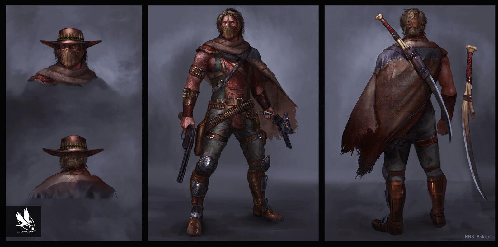 Mortal Kombat X - Character Design - Salazar
