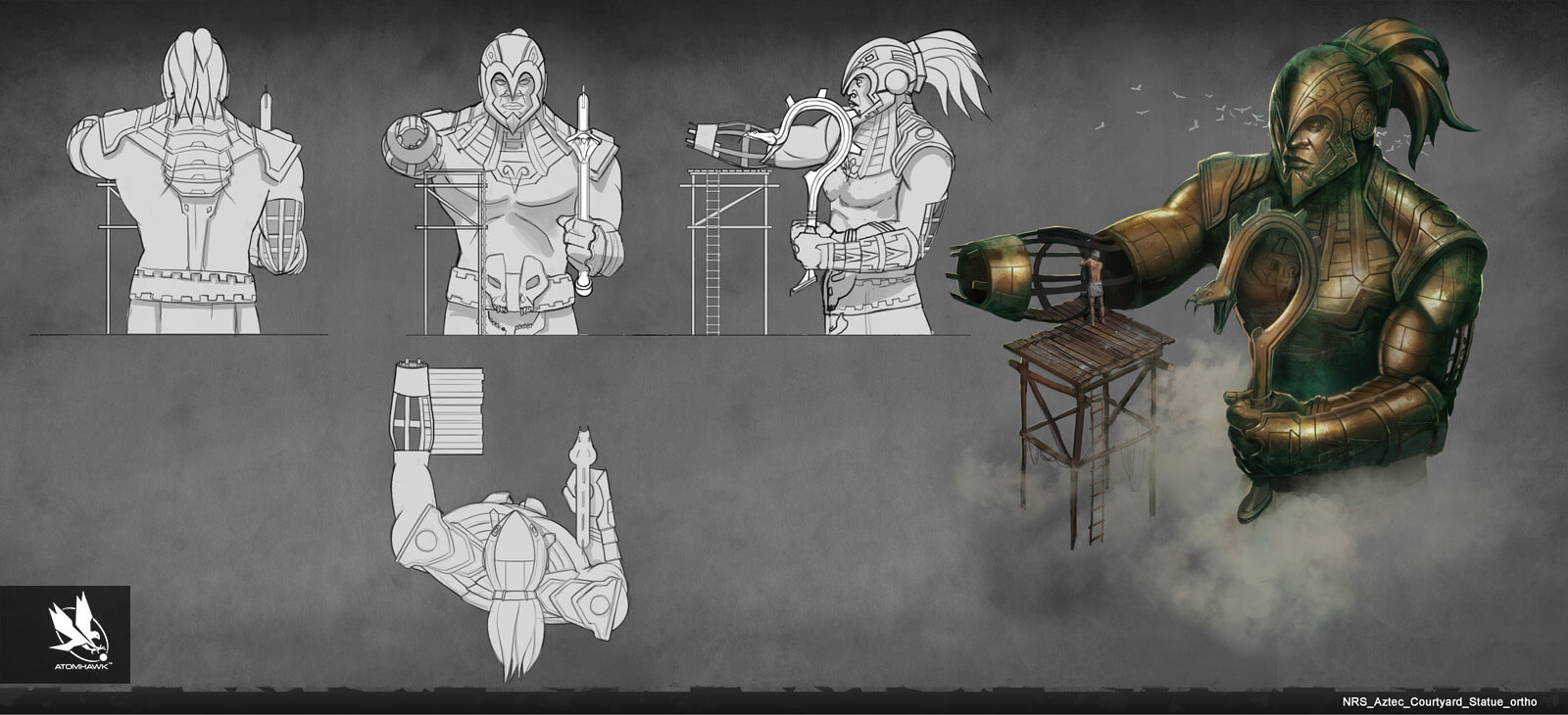 Atomhawk - Mortal Kombat X - Prop Design - Aztec 1