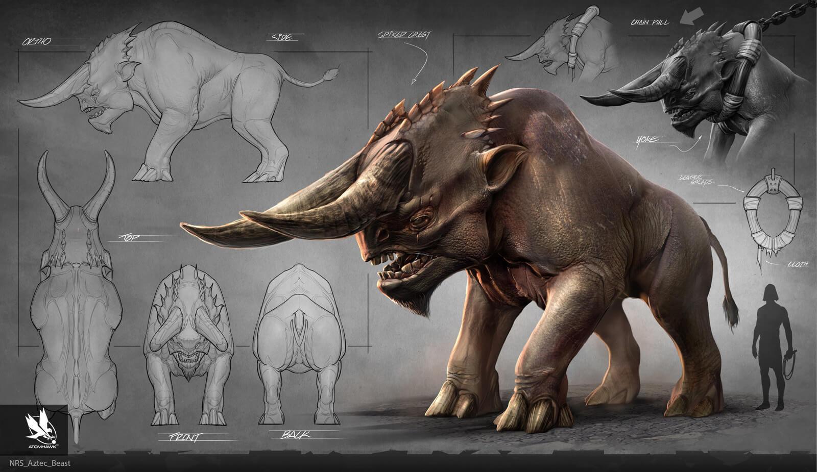 Atomhawk - Mortal Kombat X - Prop Design - Aztec Beast