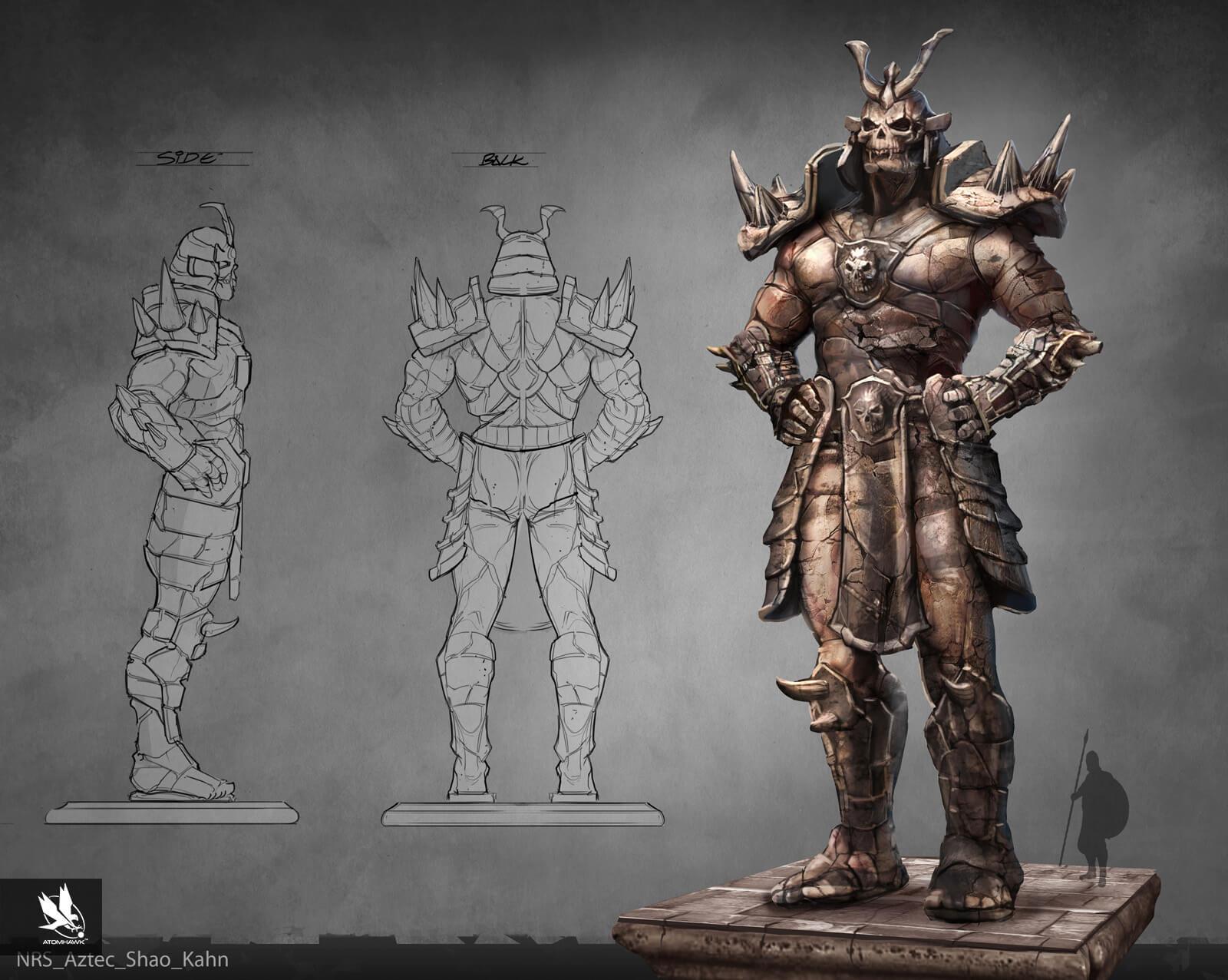 Atomhawk - Mortal Kombat X - Prop Design - Aztec Shap Kahn
