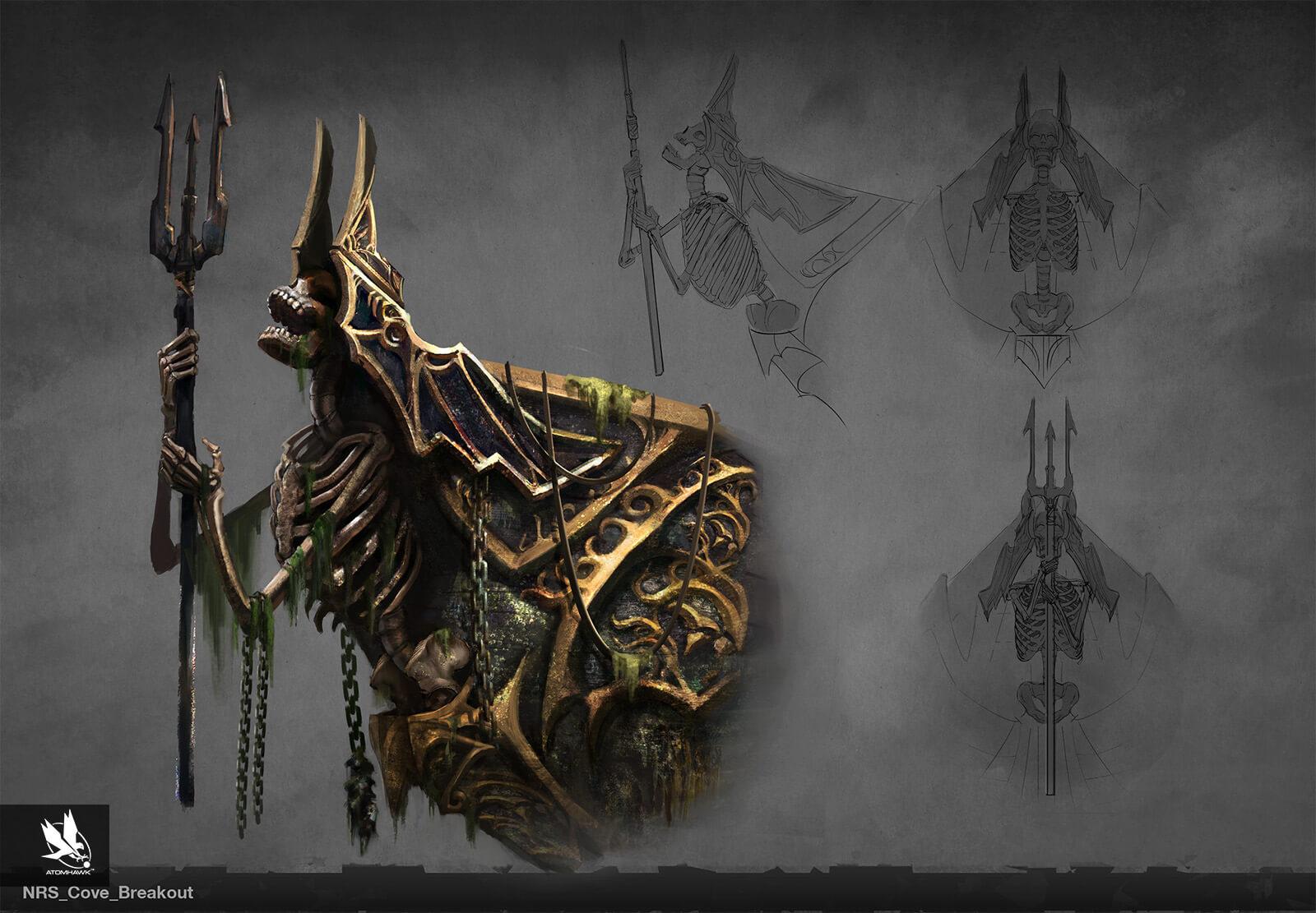 Atomhawk - Mortal Kombat X - Prop Design - Cove Figure Head