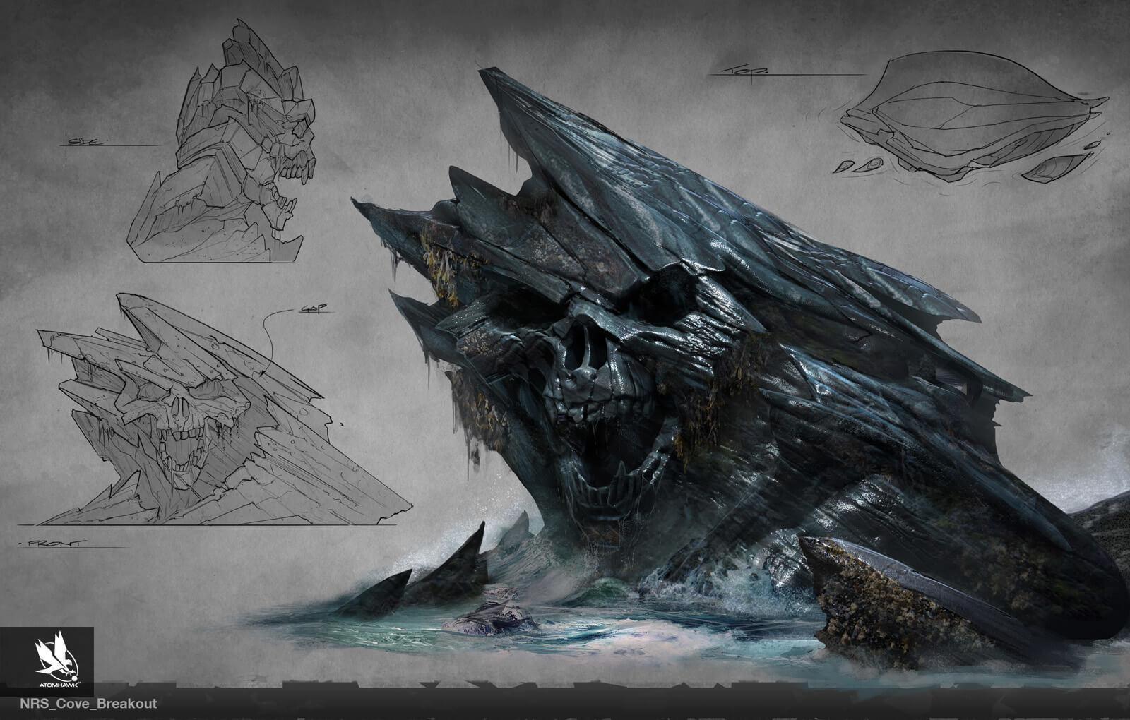 Atomhawk - Mortal Kombat X - Prop Design - Covekull Mountain