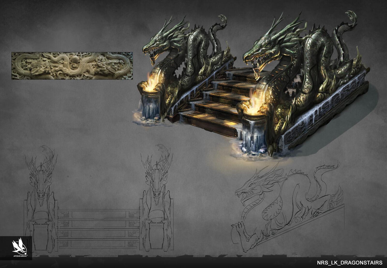 Atomhawk - Mortal Kombat X - Prop Design - Dragon Stairs