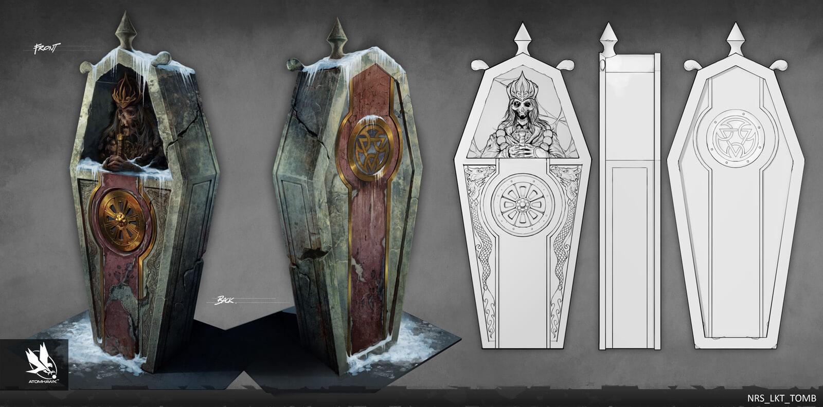 Atomhawk - Mortal Kombat X - Prop Design - Lin Kuei Temple Tomb
