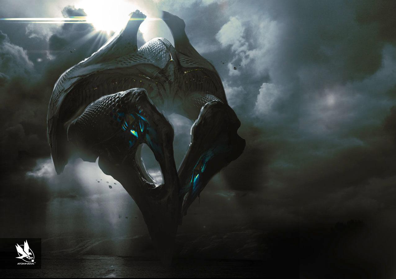 Atomhawk - Guardians of the Galaxy - Concept Art / Spacecraft Design - Dark Aster