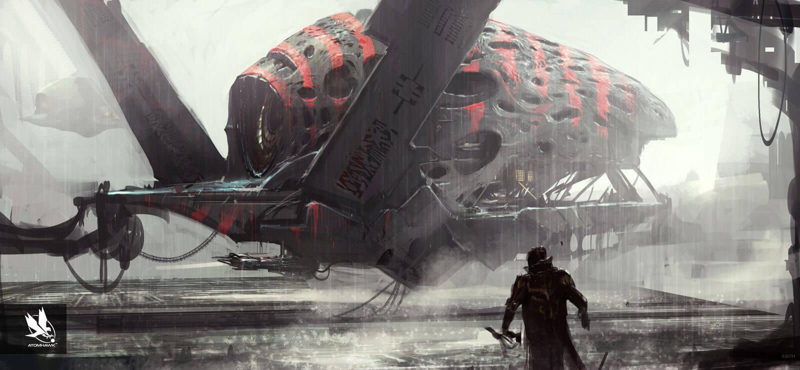 Atomhawk - Guardians of the Galaxy - Concept Art / Spacecraft Design - Necrocraft