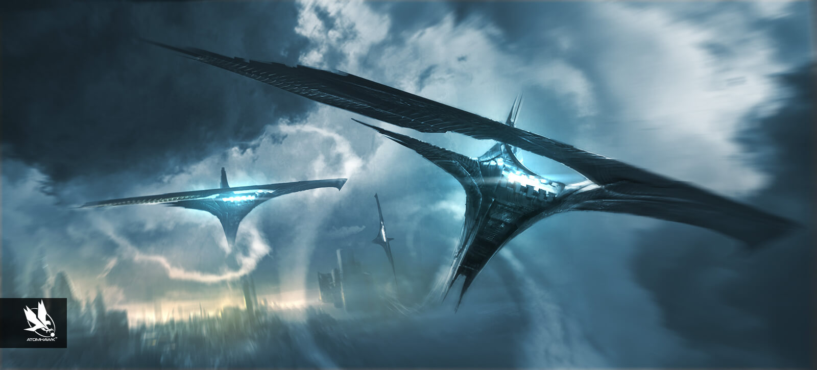 Thor The Dark World - Spacecraft Design - Troopship in Flight