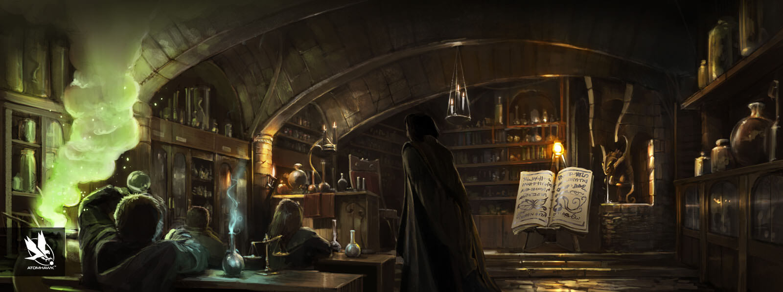 Pottermore - Concept Art - Harrys first potion lesson