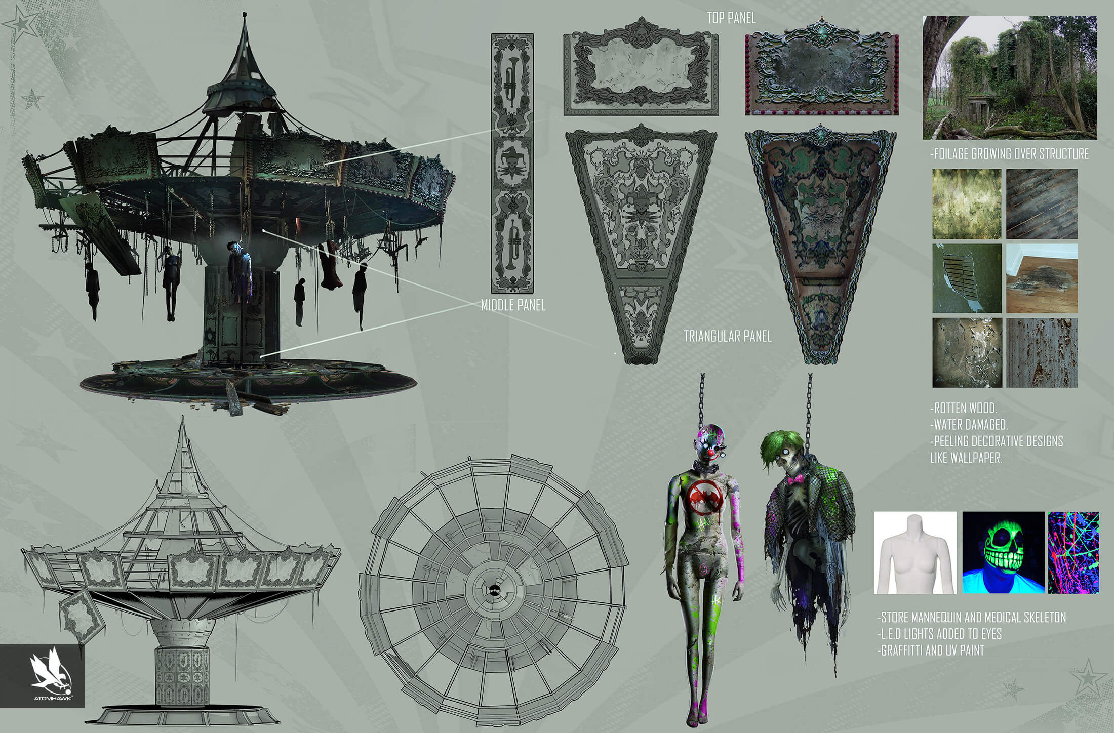 Atomhawk Warner Bros - Nether Realm - Injustice 2 - Concept Art and Prop Design - Jokers Playground Carousel Breakout Services.jpg