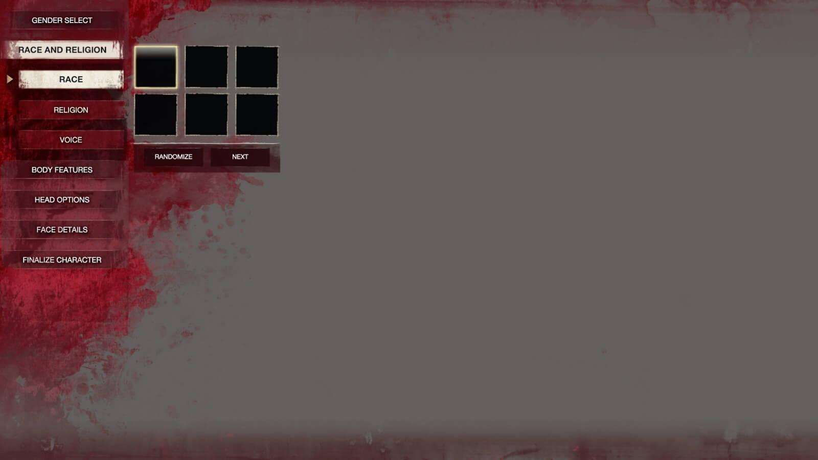 Conan Exiles - UI Design - Character Creator Race Selector