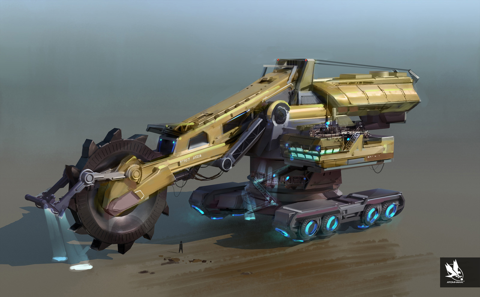 Atomhawk's Massive Mining Machine Breakout  Designs for Housemarque and Sony's Matterfall