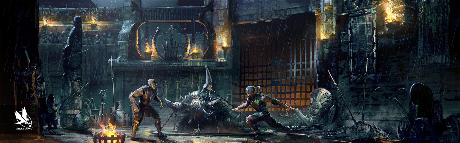 Atomhawk_Warner-Bros-NetherRealm_Mortal-Kombat-11_Concept-Art_Environment-Design_Kotal's-Koliseum_Night.jpg