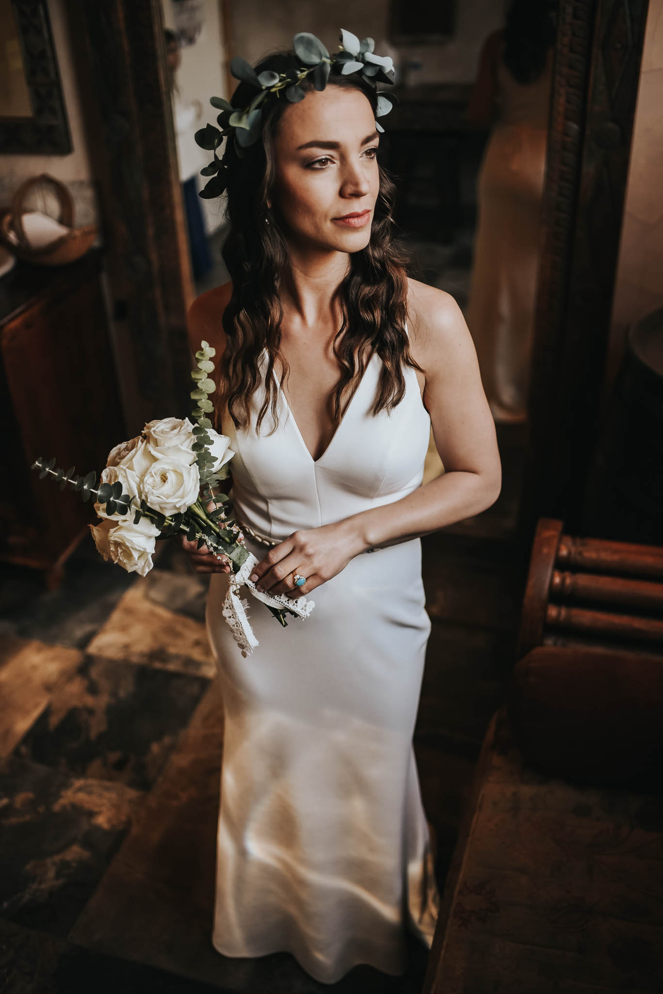 Bohemian bride at Austin, Texas Intimate Wedding