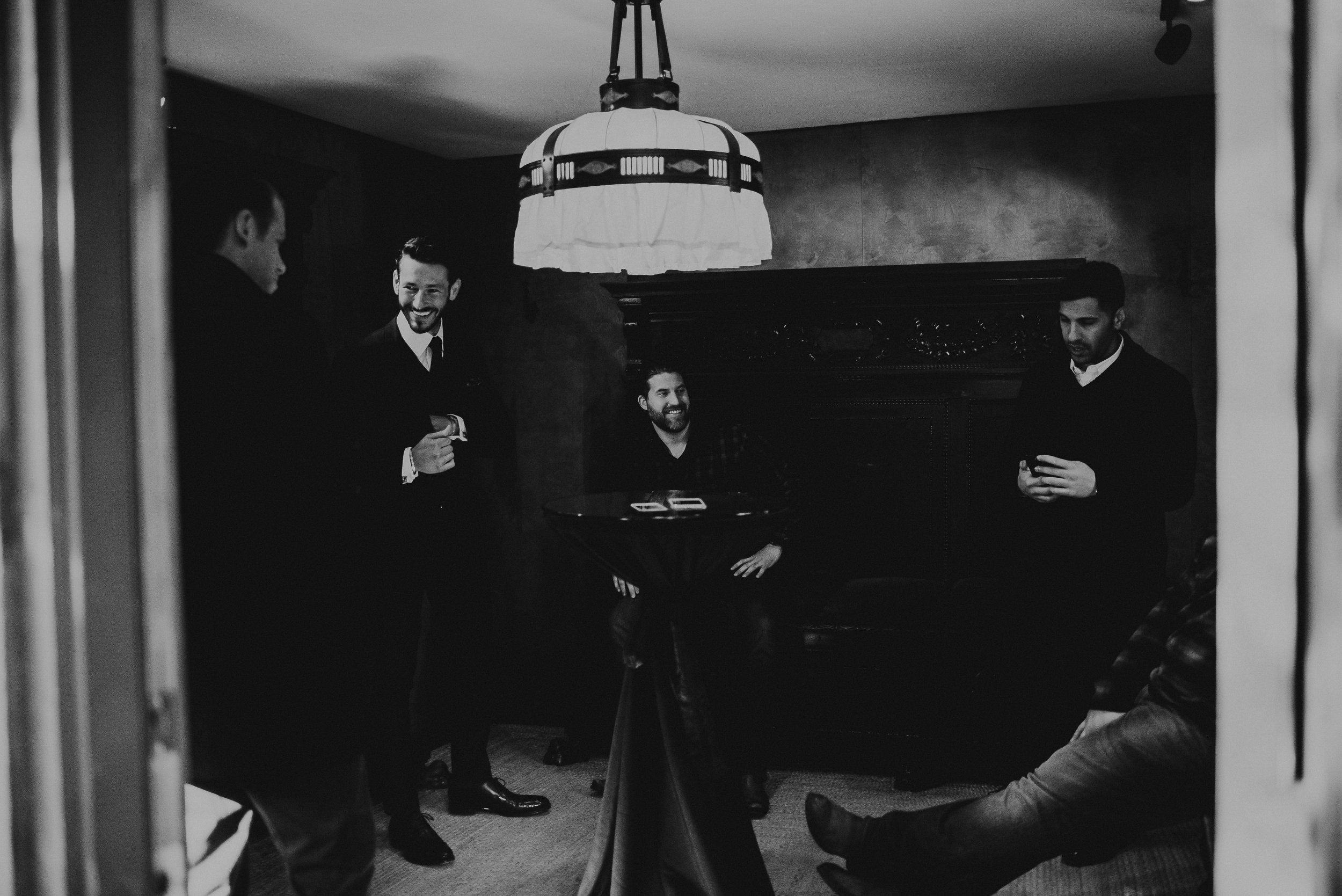 Groomsmen at Chapel Dulcinea