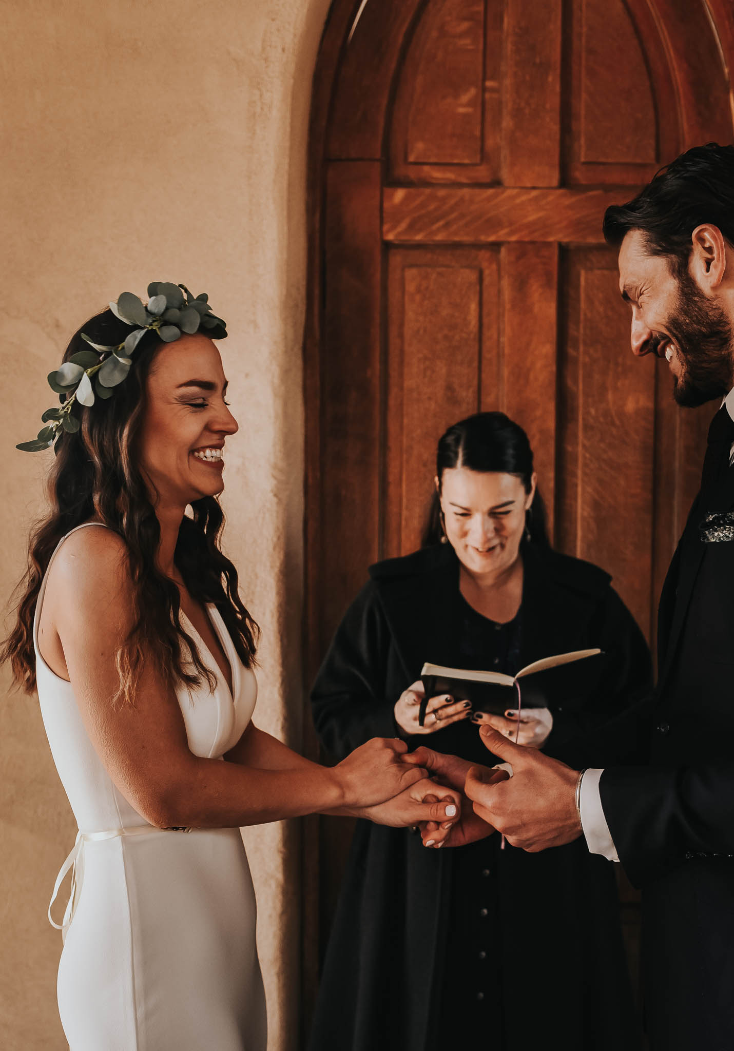 Intimate ceremony at Chapel Dulcinea