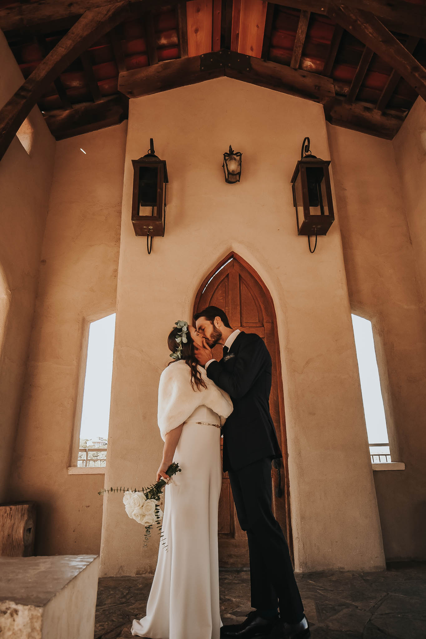 Intimate ceremony at Chapel Dulcinea in Austin, Texas