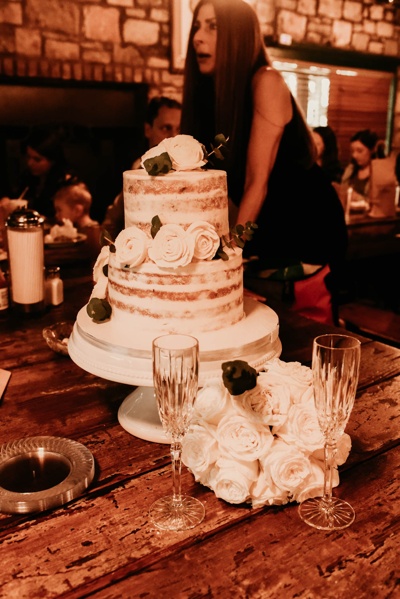 Vegan, gluten free Wedding Cake at the Salt Lick
