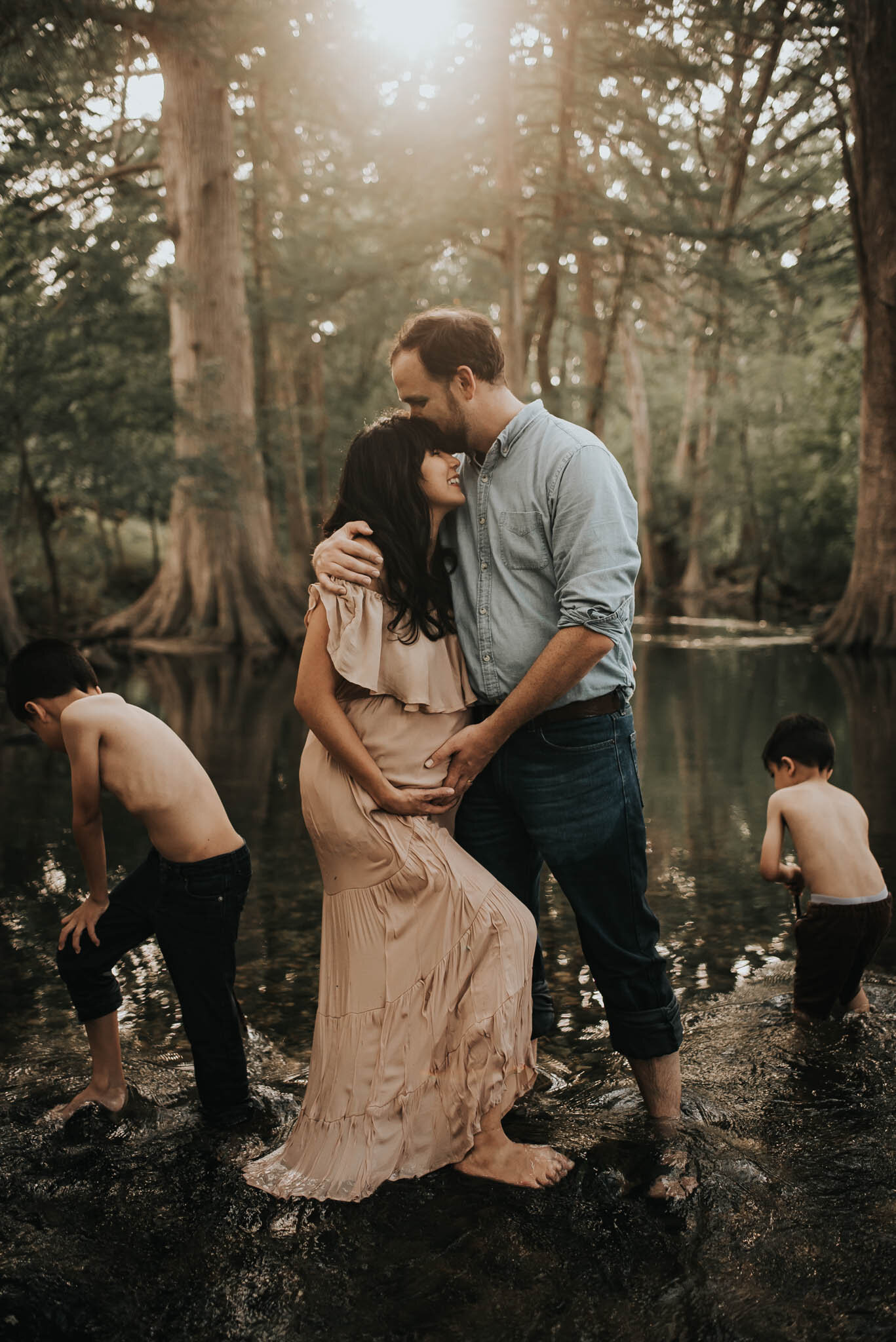 Lifestyle Maternity/Family Session at Cibilo Nature Center, Boerne, Texas.