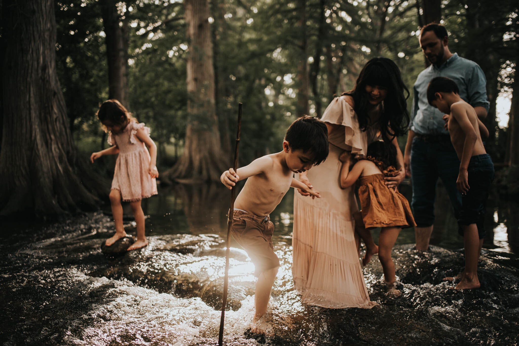 Lifestyle Family Session at Cibilo Nature Center, Boerne, Texas.