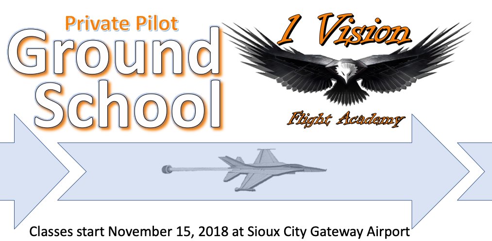 Next Class Starts November 15! - This 12-week course is designed to cover the material needed to become a private pilot. We will actively interact with all of the topics covered on both the FAA written exam and the oral part of the FAA Practical Exam for the Private Pilot Certificate.