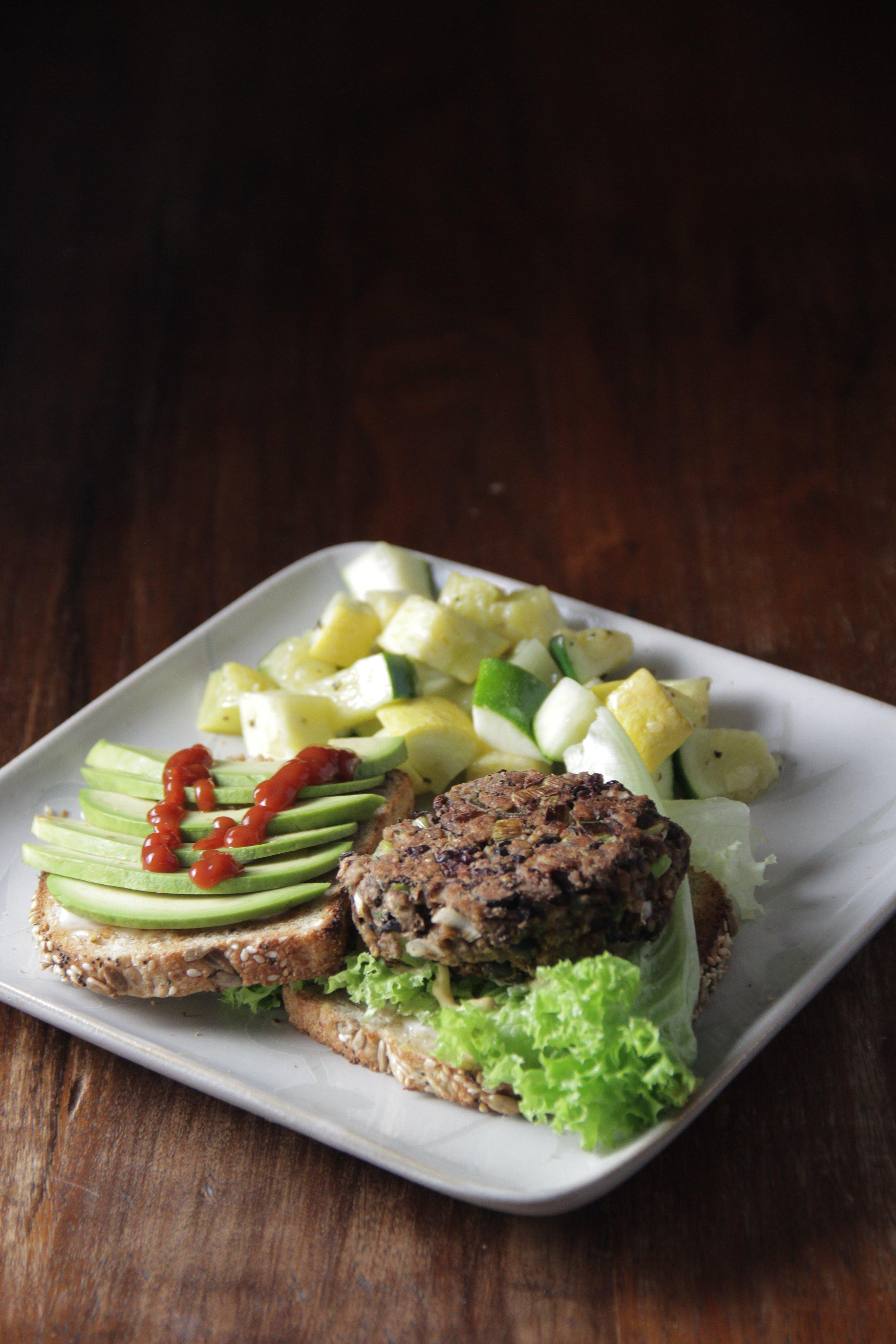 vegetarian back bean burger recipe, gluten free