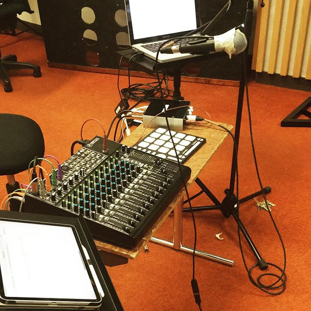 Recording my new piece!