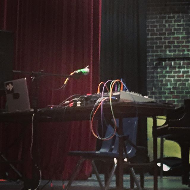 Set-up for soundcheck at EMM! #electronicmusicmidwest