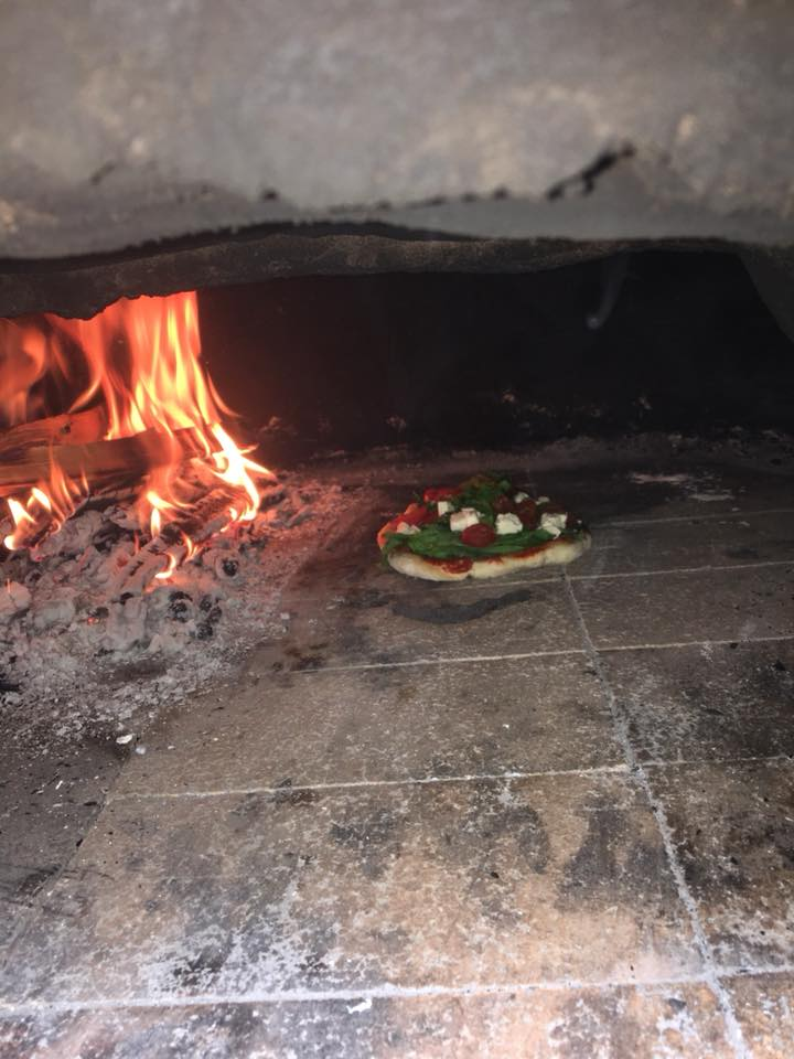 Baking Pizza in the Cobb Oven