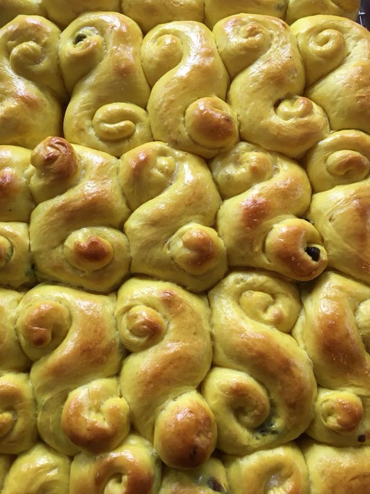 Special request breads, this one is saffron rolls, non sourdough