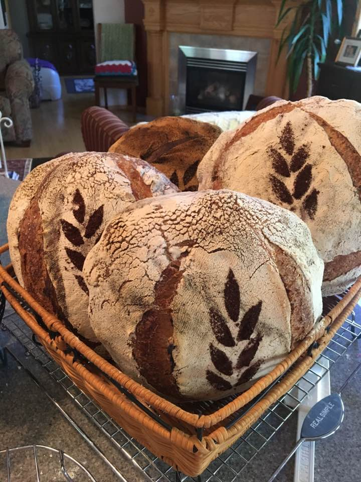 Why not stencil your bread? Adds beauty and we can do logo's!