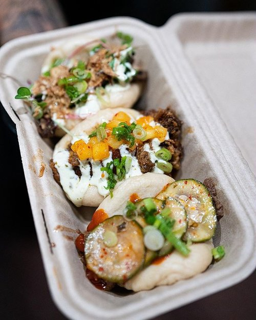 Get a taste👅 of this bun trio at Union Market DC!🤩  📍 1309 5th St NE, Washington, DC 20002 (located inside the market between South Block & Uzu Ramen)  Mon-Wed 11-8 Fri-Sat 11-9 Sunday 11-7