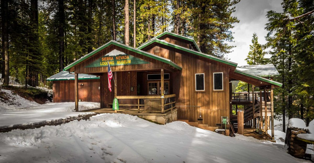 Sierra Nevada Logging Museum:   About 5 minutes from Pinecone Hollow. Sierra Nevada Logging Museum sits directly next to the lake by Hazel Fischer Elementary School. The museum's address: 2148 Dunbar Rd, Arnold