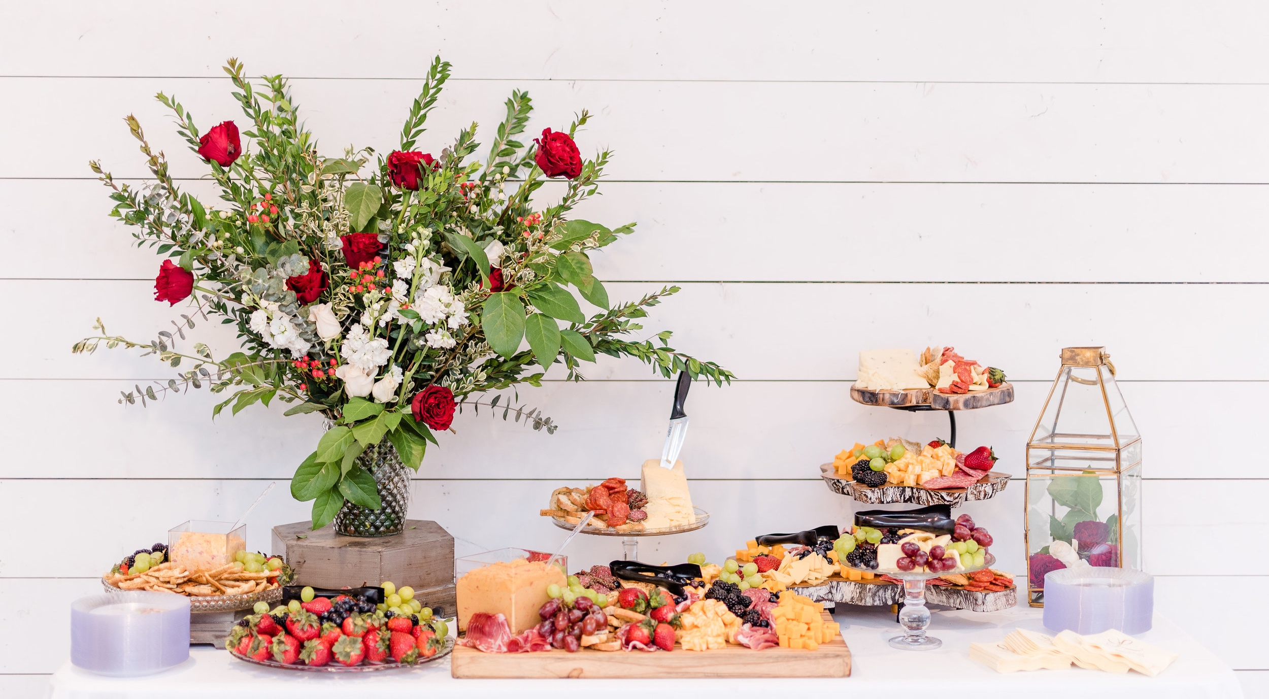 Appetizer Display at a Wedding Reception